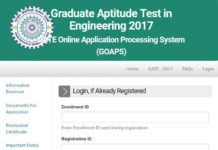 GATE 2018 Online Application starts from 1st September