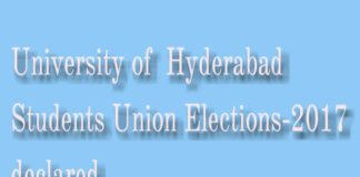 University of Hyderabad (UOH)Students Union Elections-2017 declared