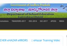 East Godavari 1215 Teacher Vacancies to be filled through new DSC-2018