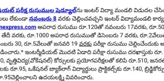 AP Inter Board IPE March 2018 Exam Fee Dates released