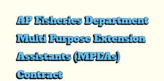 AP Fisheries Department Multi Purpose Extension Assistants (MPEAs) Salaries Enhanced