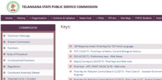 TSPSC Forest Beat Officer (FBO) Answer Keys for Paper 1@2