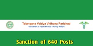 640 posts sanction in TVVP upgraded hospitals