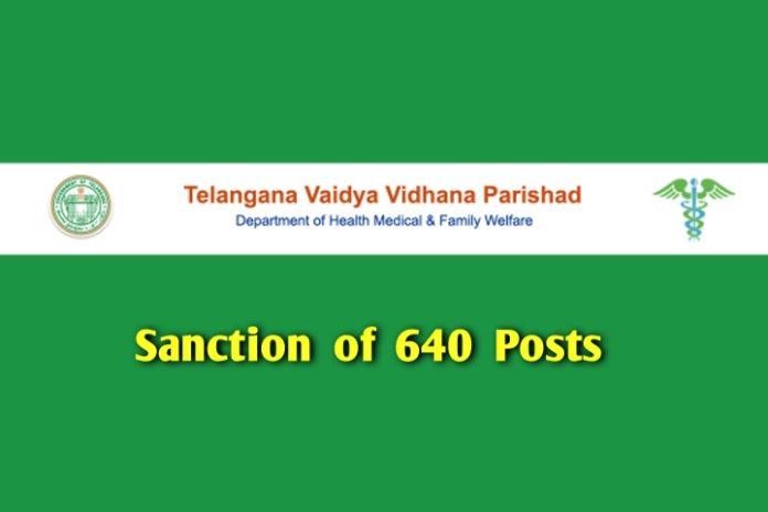 640 posts sanction in TVVP upgraded hospitals