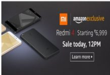 Amazon Redmi 4 Sales: Start today at Rs 6,999 at 12 PM
