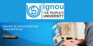 IGNOU Admission 2018 January, last date December 31
