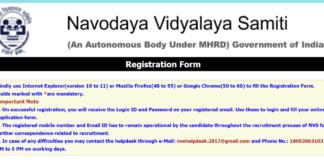 Navodaya Vidyalaya Samithi Non Teaching Online Application opened now on nvshq.org