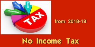 Pensioners Tax FY 2018-19, No income tax below 5 lakhs