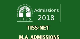 TISSNET MA Admissions 2018 last date extended to December 8