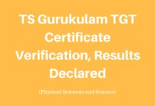 TSPSC announce TGT Certificate Verification Results Schedule