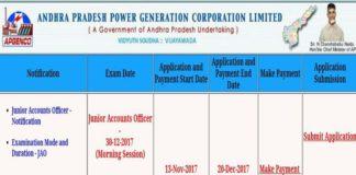 APGENCO JAO Online Application extended to Dec 20 at apgenco.cgg.gov.in