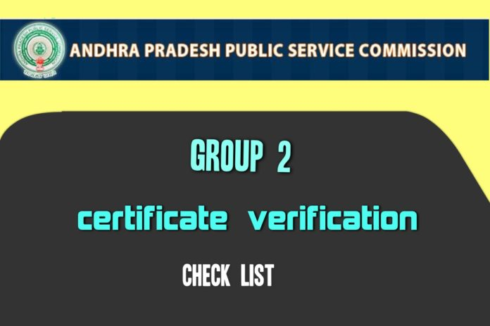 APPSC Group 2 Certificate Verification from January 3