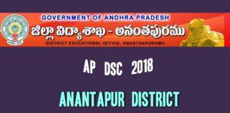 Anantapur District AP DSC 2018 Vacancies list expected