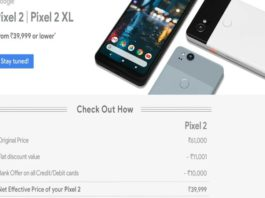 Google Pixel 2 at Rs 39,999 on Flipkart: Here's how you can get Rs 21,000 discount