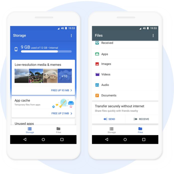 Google Files Go, an app for manage and share files