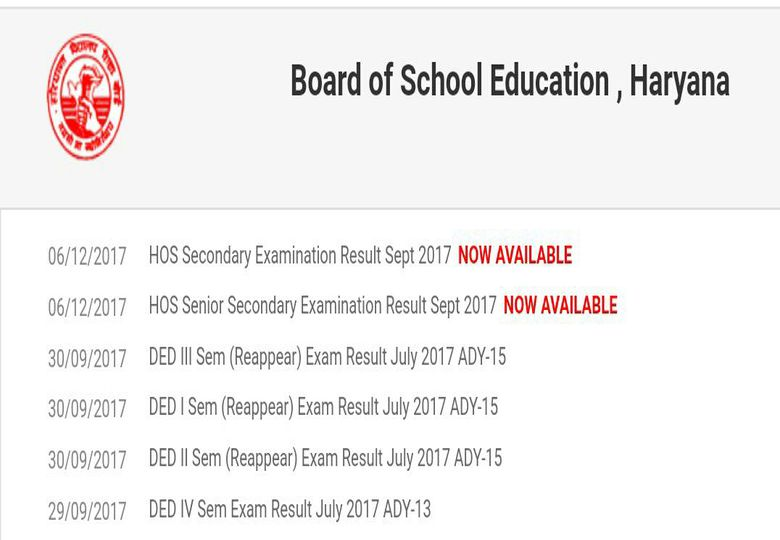 Bseh: Haryana Open School Class 10@12 Results Declared At Bseh