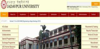 Jadavpur University Admission to BPED 2018-19 Eligibility, Application, Dates