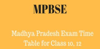 MPBSE Class 10, 12 Time Table 2018 released, Download at mpbse.nic.in