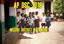Nellore DSC 2018 Vacancies List Subject wise