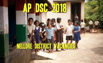 Nellore DSC 2018 Vacancies List Subject wise