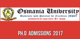 OU Ph.D Admissions, Last date extended to December 16 available @ osmania.ac.in