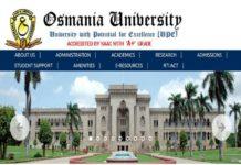 Osmania University BASLP 1st & 2nd Semester (CBCS) Exam Fee Schedule Dates