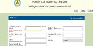 Tamil Nadu SET 2018 Online Application Opened, Apply now @tnsetexam2018mtwu.in
