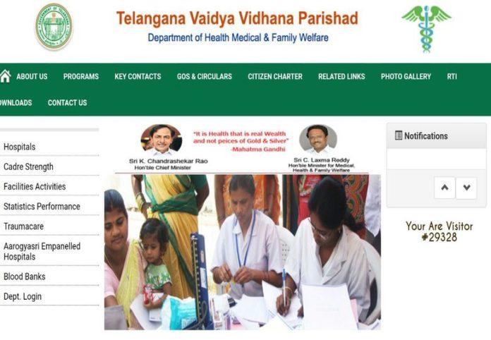 TS Finance Dept approved Civil Assistant Surgeon, Staff Nurse 2517 Vacancies