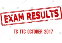 TS TTC October 2017 Exams Results, Marks Memos released