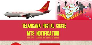 Telangana Postal Circle MTS notification released, last date January 8