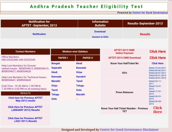 AP TET 2017 Rules for Paper 1 Eligibility, Qualification, Syllabus released