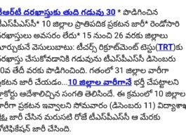 Telangana TS TRT-2017 School Assistant (S.A) Subject Wise Vacancy list out in 10 Districts