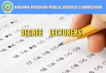 APPSC Degree Lecturers written test, interview marks released at psc.ap.gov.in