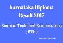 KA DTE Diploma Results 2017 Nov/Dec Released at btenet.in