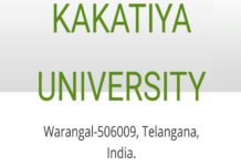 Kakatiya University BEd, MEd Exam Fee Due dates