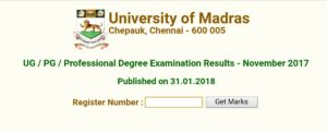 Madras University UG, PG November Exam Results Released at results.unom.ac.in