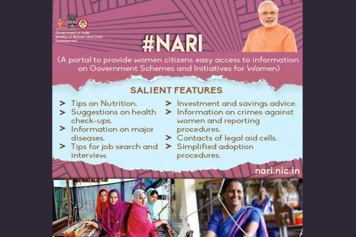 NARI Portal for women about all Central and State Govt schemes launched