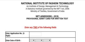 NIFT Entrance Exam 2018 Admit Card Released at applyadmission.net
