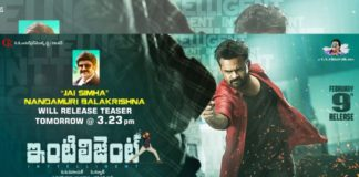 Nandamuri Balakrishna released Sai Dharam Tej Intelligent Teaser