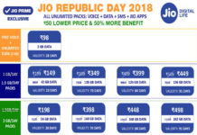 Reliance Jio Republic Day Offers 2018