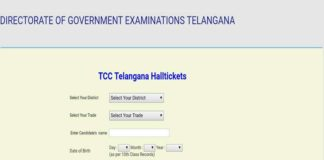 Telangana TCC Exams Hall Tickets Released at bse.telangana.gov.in