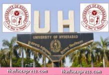 University of Hyderabad Teaching Posts 2018 notification released Professor Associate Professor Assistant Professor