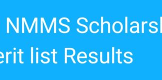 TS NMMS Scholarship Provisional Merit list results Declared, Check now
