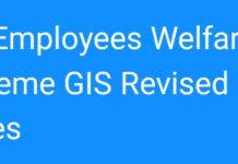 AP Employees Welfare Scheme GIS Revised Slab Rates 2018