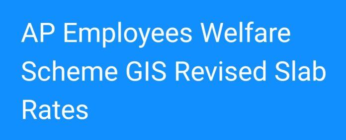 AP Employees Welfare Scheme GIS Revised Slab Rates 2018