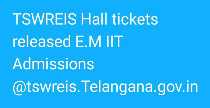 Telangana TSWREIS Inter 1st Year Hall tickets released, download now