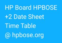HPBOSE Plus Two Date Sheet 2018 released, Download Time Table