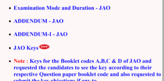 AP GENCO 2018 JA, JAO Posts Answer Keys Released, Check now Booklet Wise