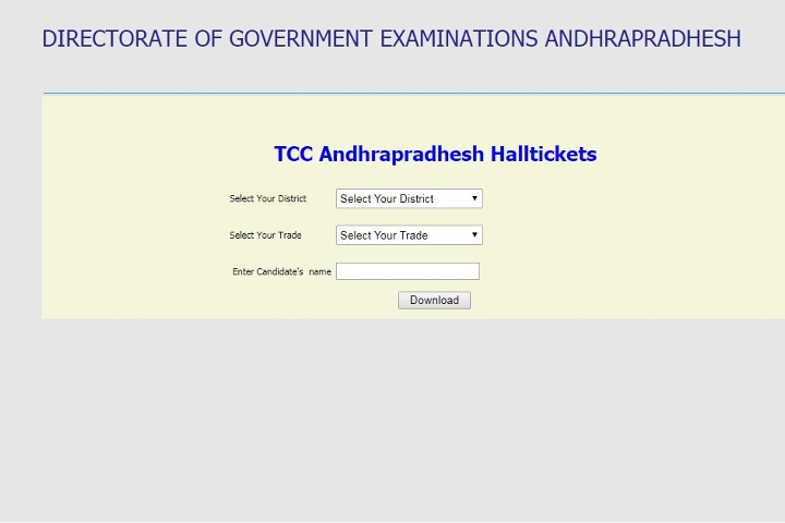 Ap Tcc Exams Hall Tickets Released Download Now Thefinexpress
