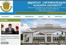 Alagappa University Distance B.Ed Notification 2018 Released